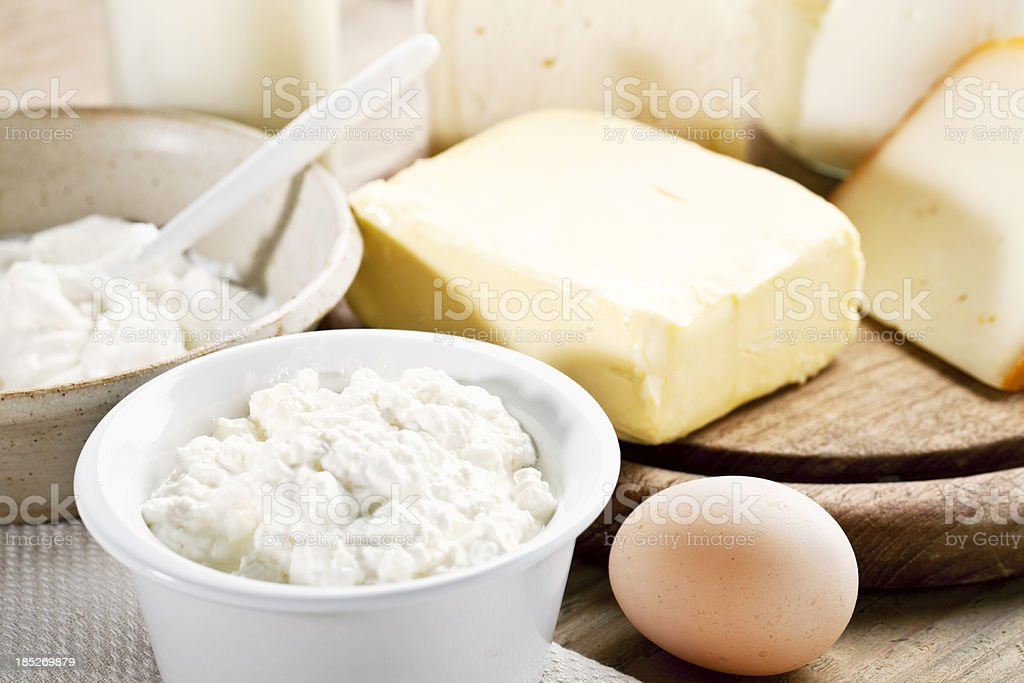 dairy products cheese yoghurt milk butter royalty-free stock photo