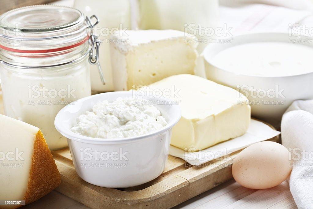 dairy products cheese yoghurt milk stock photo