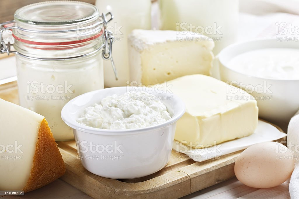 dairy products cheese yoghurt milk stock photo