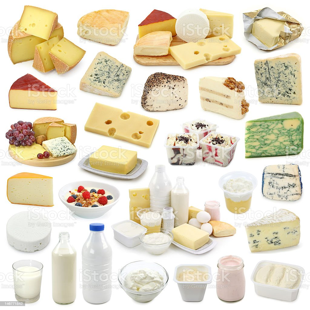 Dairy products collection royalty-free stock photo
