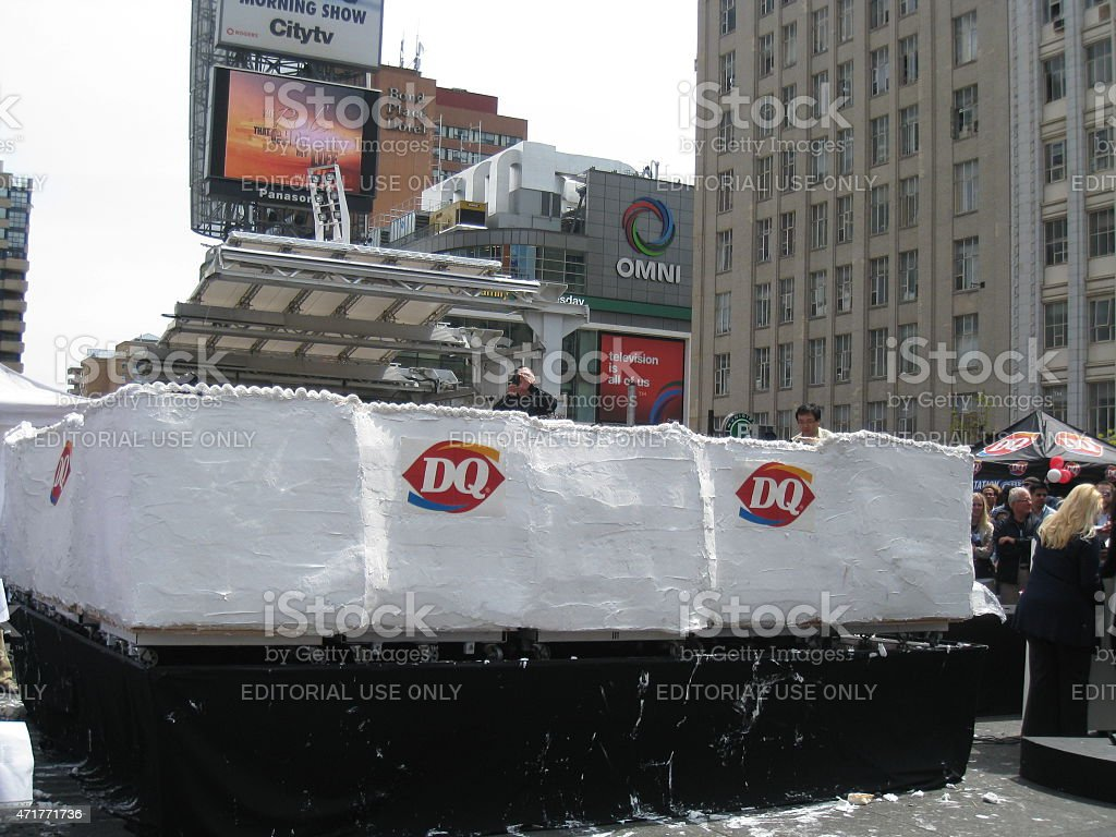 Dairy Queen making the world's largest ice-cream cake in Toronto stock photo