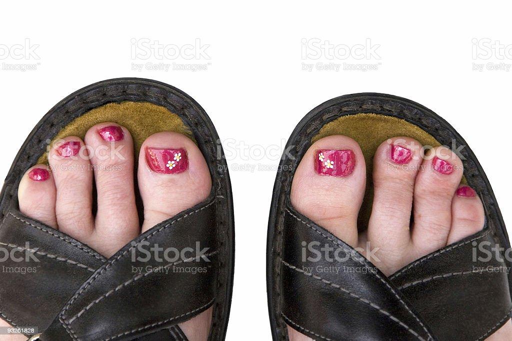 Daisy Toes stock photo