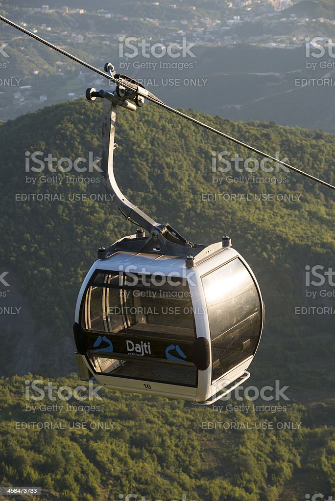 Dajti cable car in Tirana, Albania royalty-free stock photo