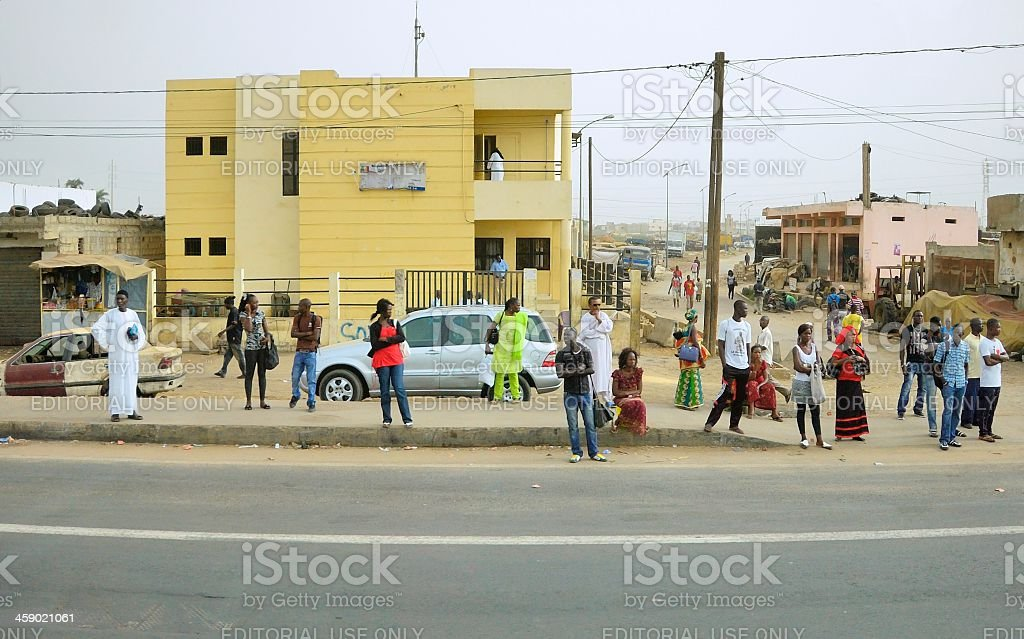 Dakar Commuters royalty-free stock photo
