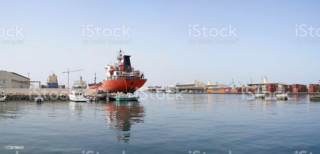 Dakar Harbour royalty-free stock photo