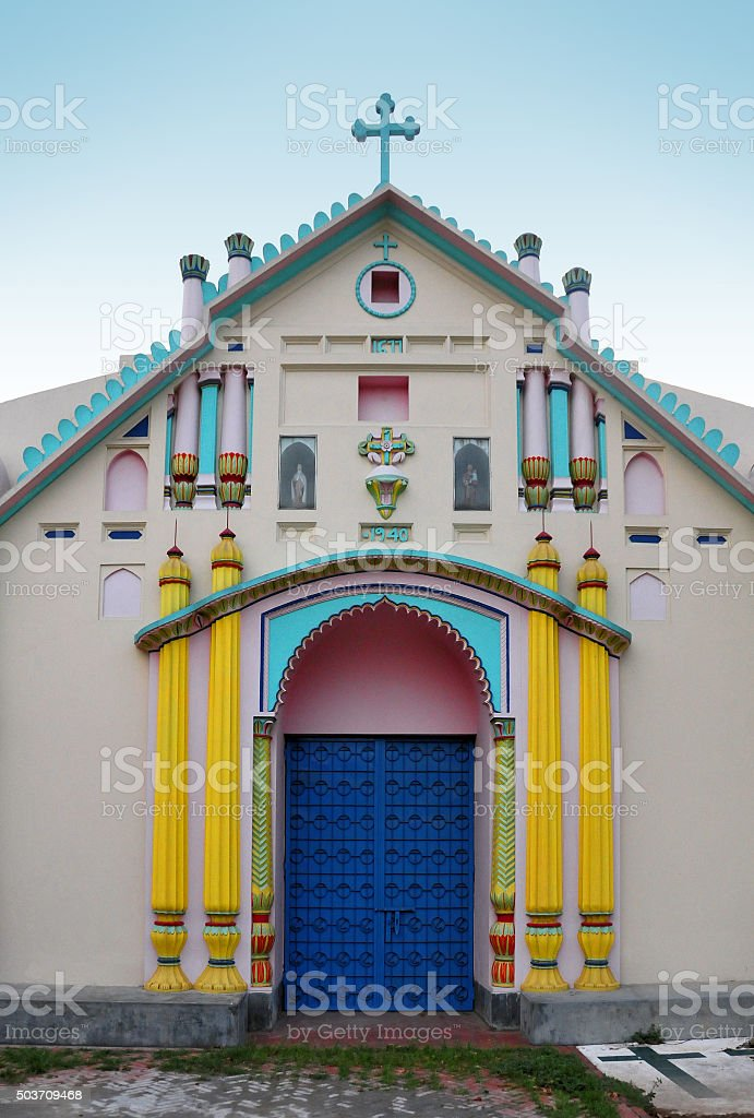 Dakha, Bangladesh: Tejgaon Church stock photo