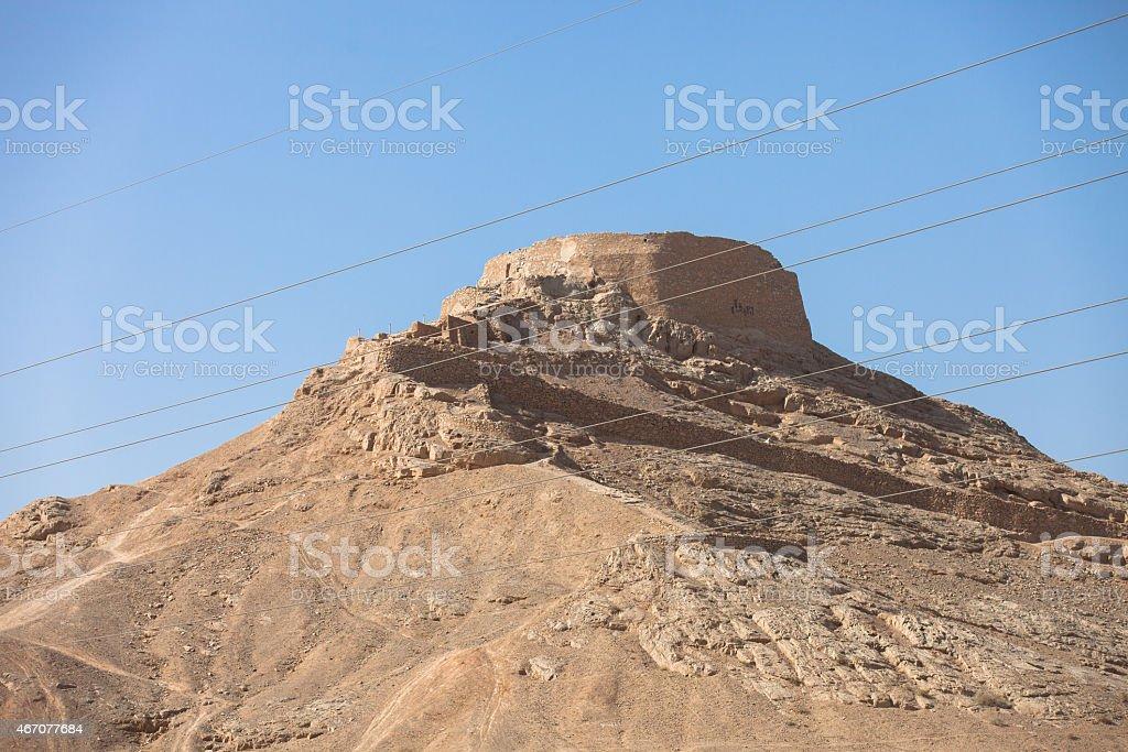 Dakhma,Tower of silence stock photo
