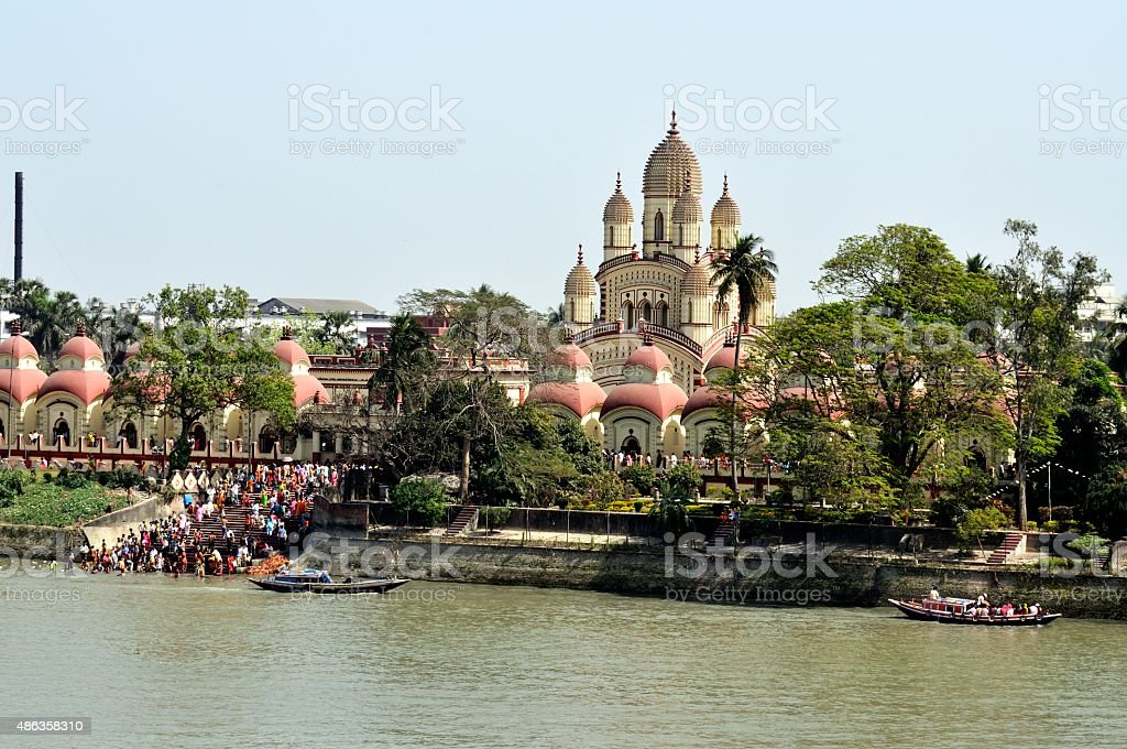 Dakshineswar Kali Temple in Kalkutta, Indien stock photo