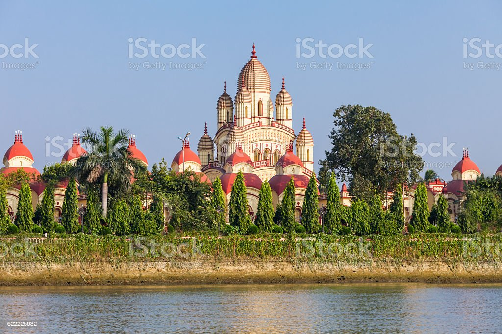 Dakshineswar Kali Temple stock photo