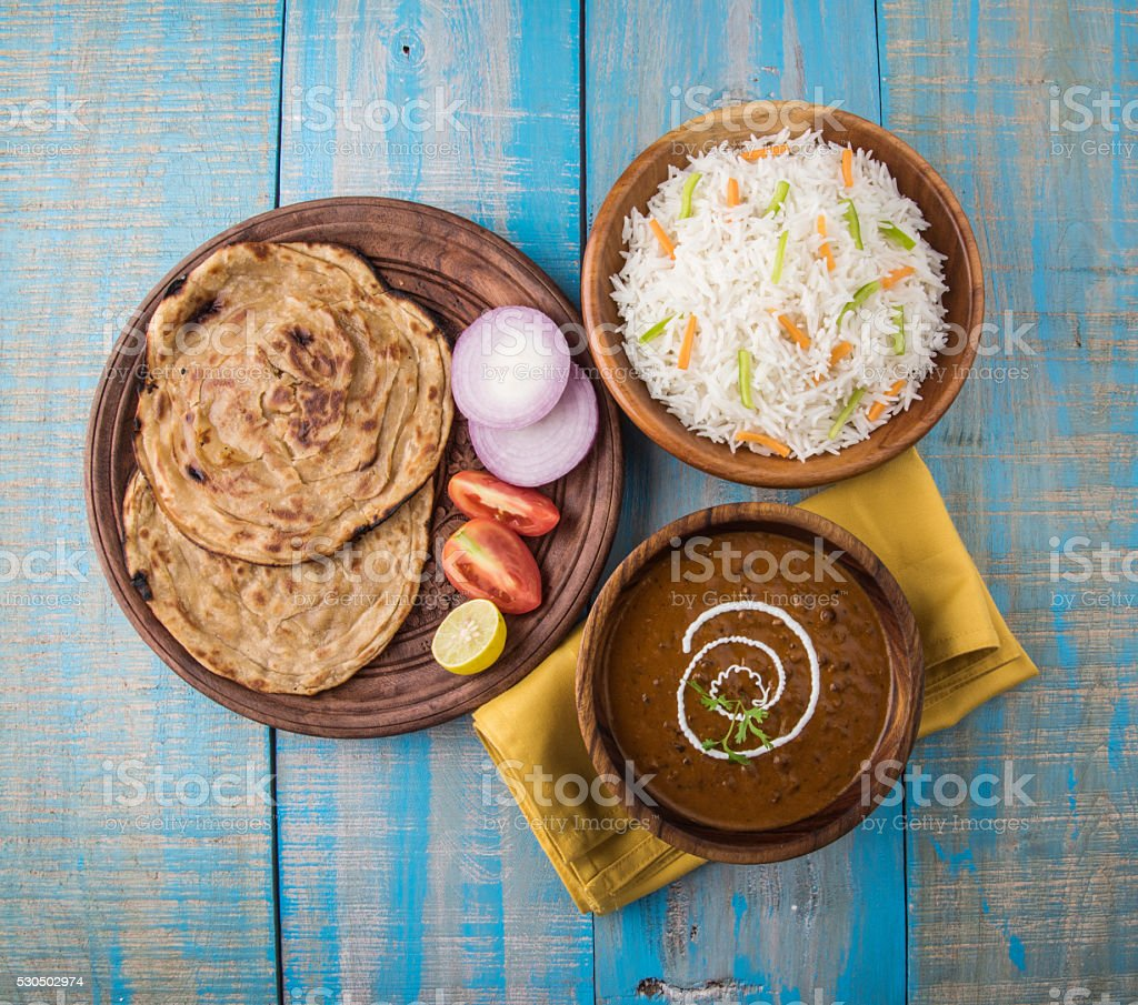 Dal Makhani or Daal Makhani, indian lunch/dinner menu stock photo