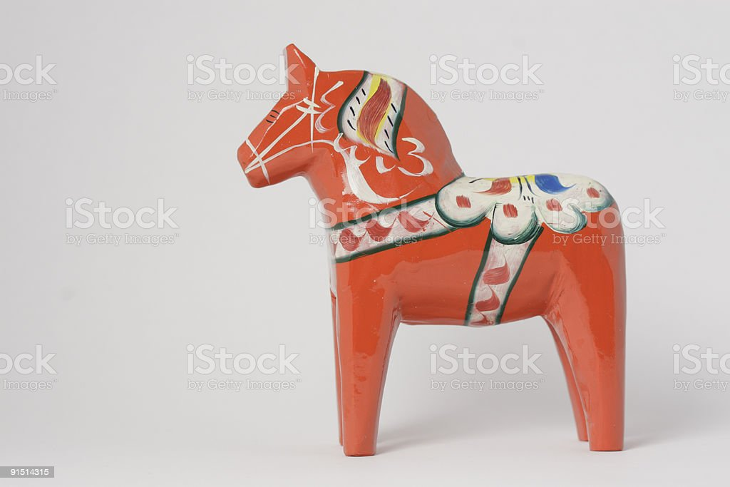 Dala Horse stock photo