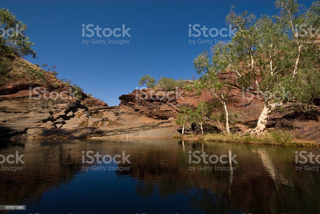 Dale Gorge Karijini National Park Creek stock photo