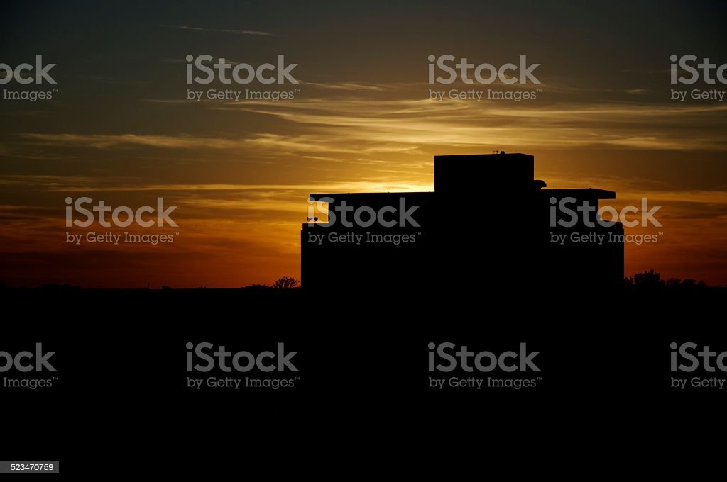 Dale Tower at sunset stock photo