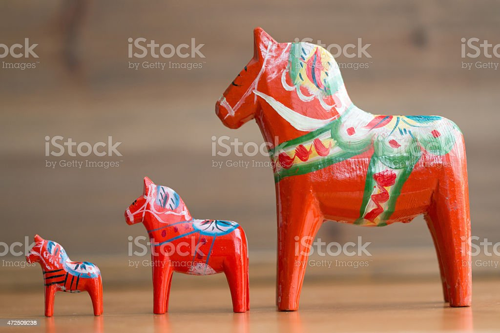Dalecarlian horse 2 stock photo