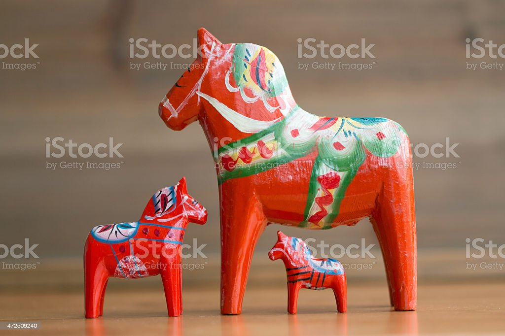 Dalecarlian horse 4 stock photo