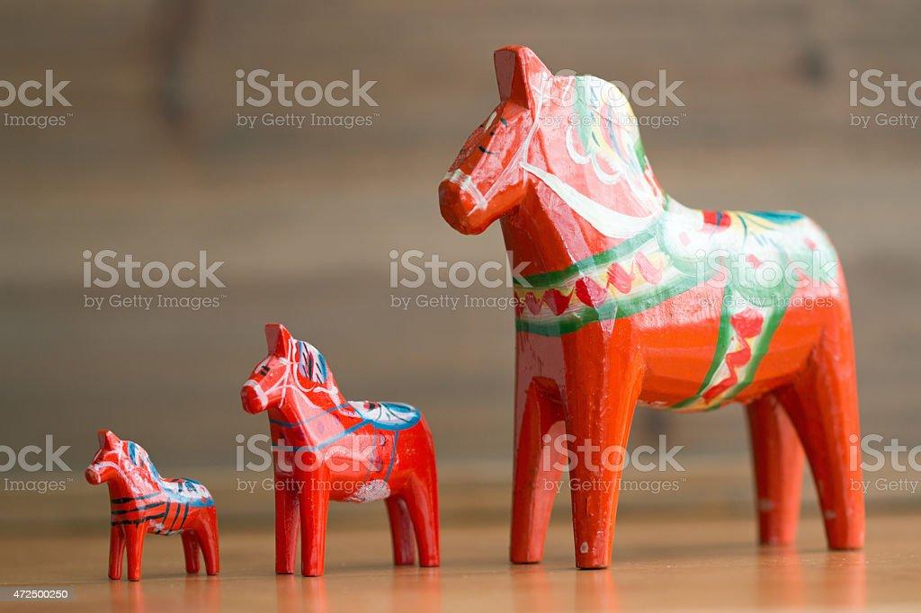 Dalecarlian horse 5 stock photo