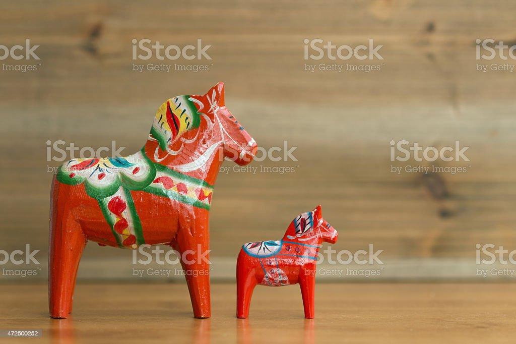Dalecarlian horse 6 stock photo