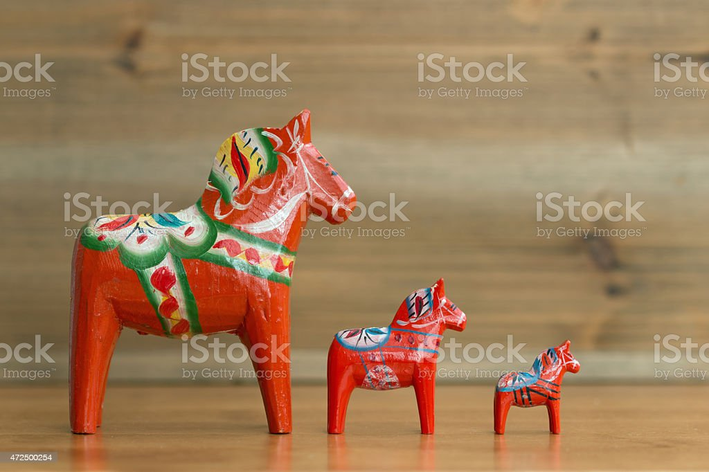 Dalecarlian horse 7 stock photo