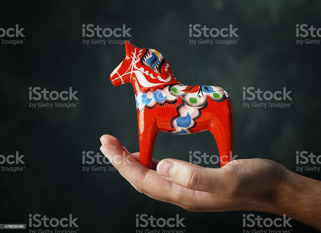 Dalecarlian Horse stock photo