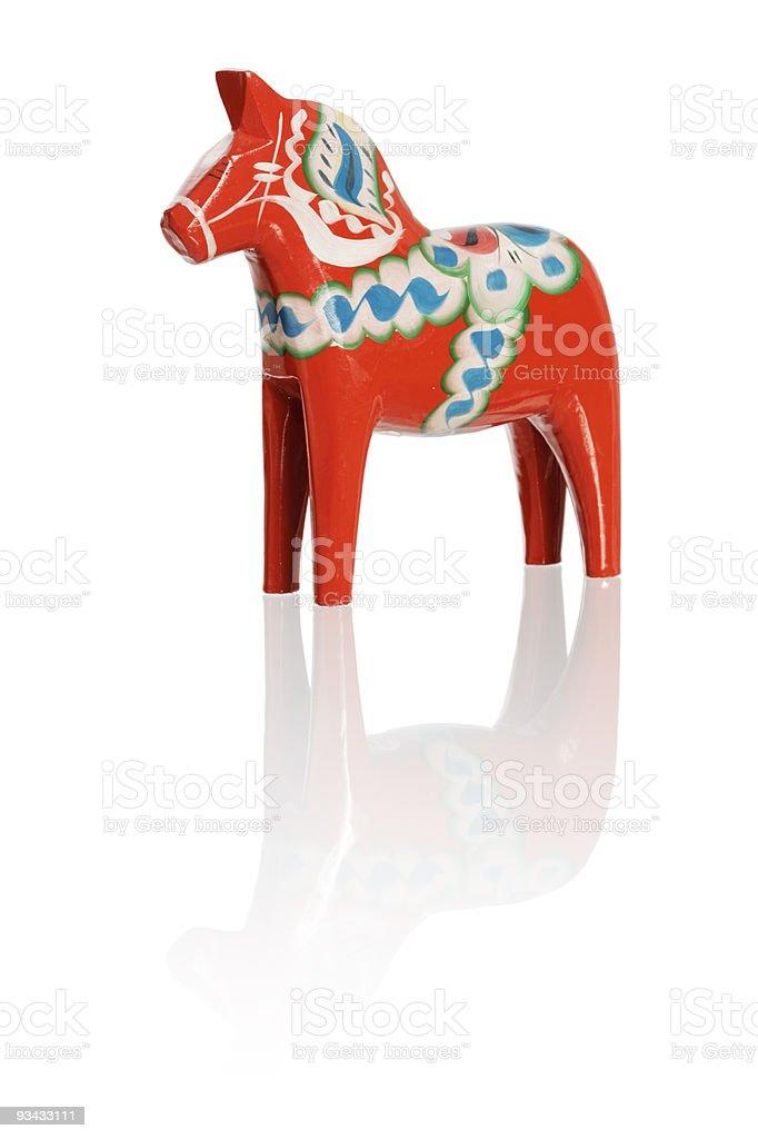 Dalecarlian horse stock photo