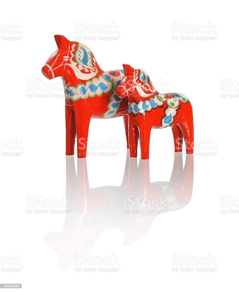 Dalecarlian horses stock photo