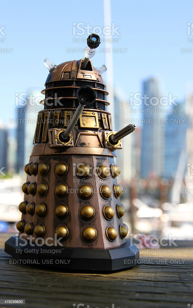 Dalek Destroys Vancouver stock photo
