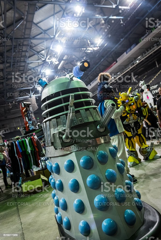 Dalek model at the Yorkshire Cosplay Convention stock photo