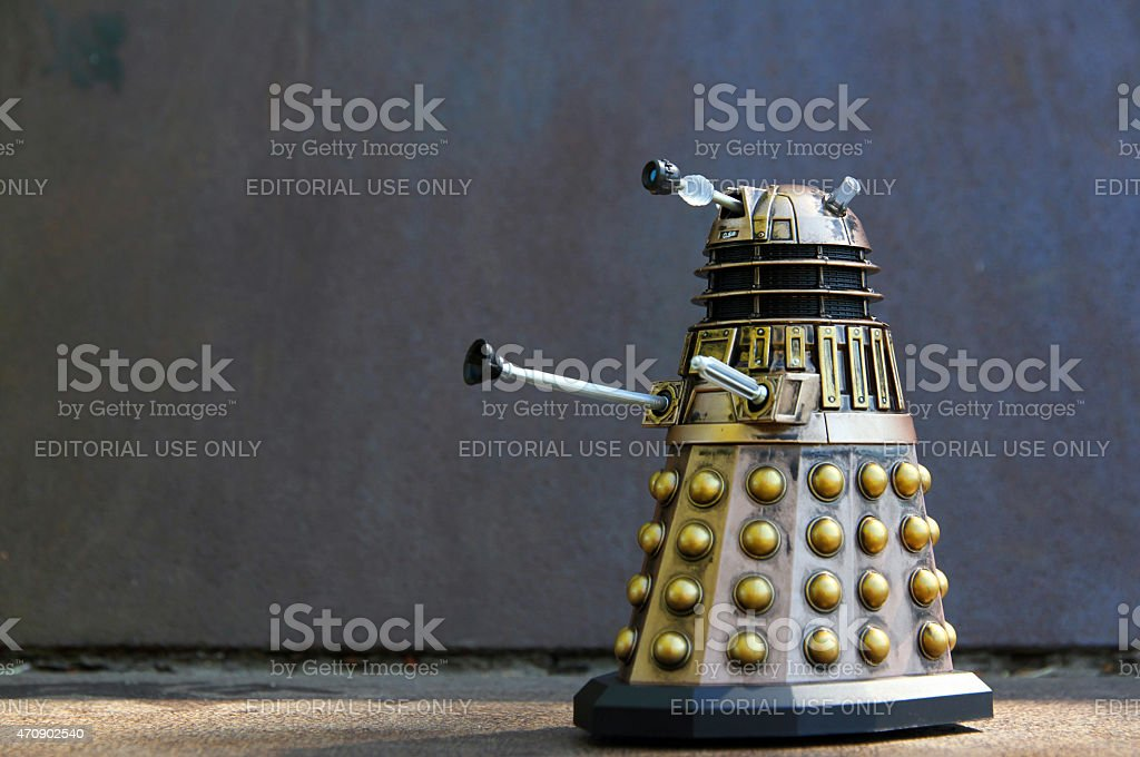 Dalek on Steel stock photo