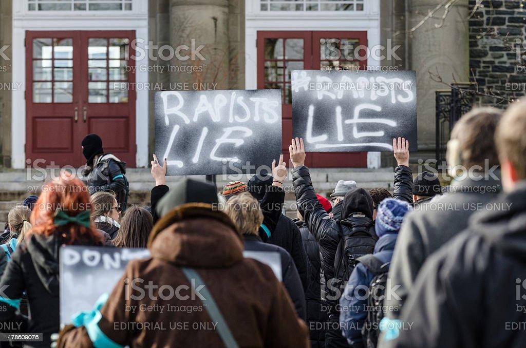 Dalhousie Dentistry Protest stock photo