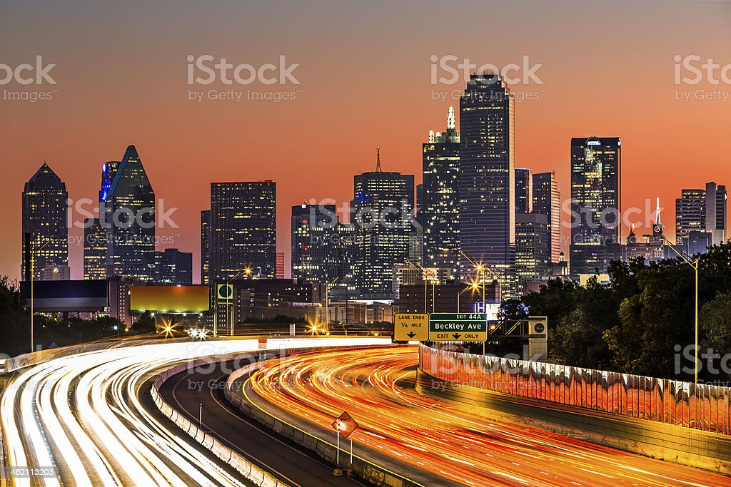 Dallas, 07:10AM stock photo