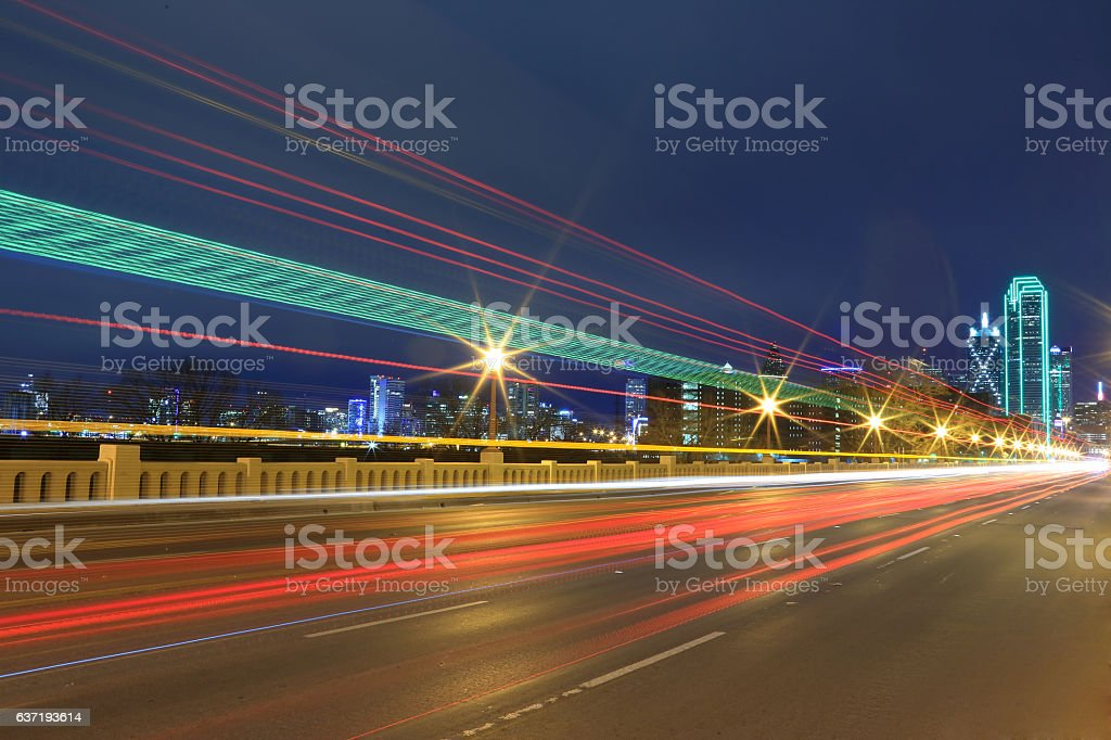 Dallas at Night stock photo