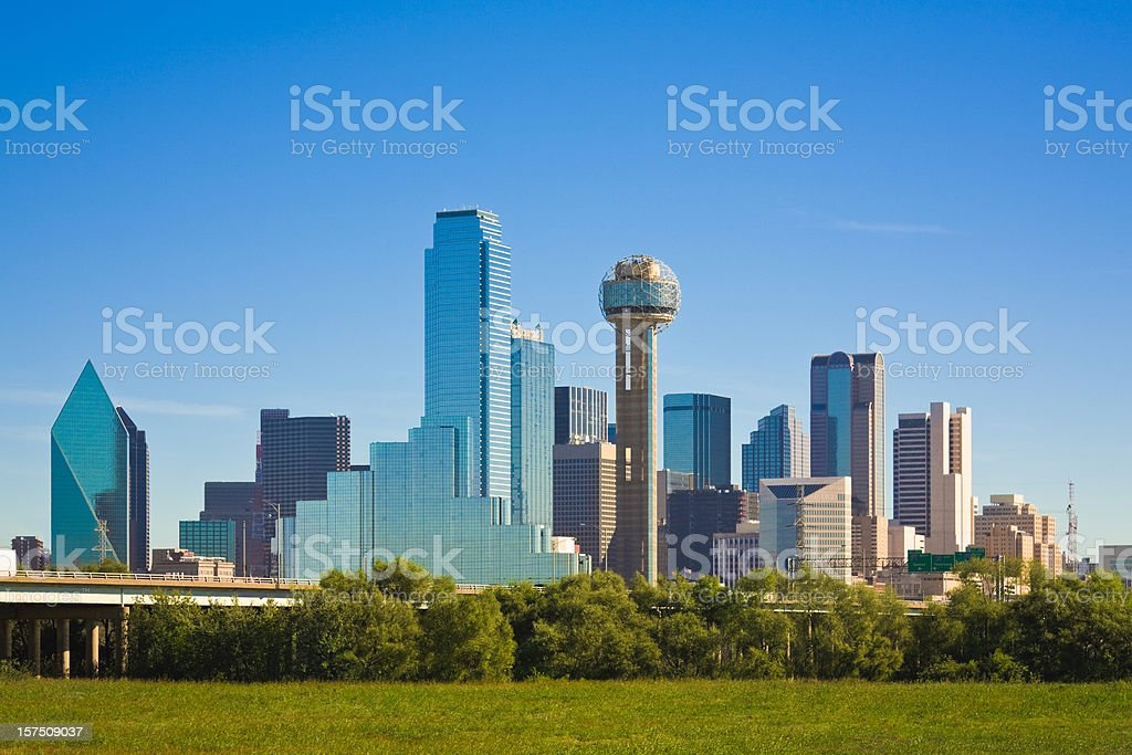 Dallas city skyline, Texas stock photo