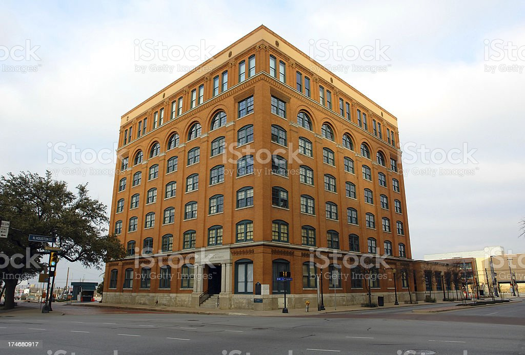 Dallas County Administration Building, J. F. Kennedy Assassination royalty-free stock photo
