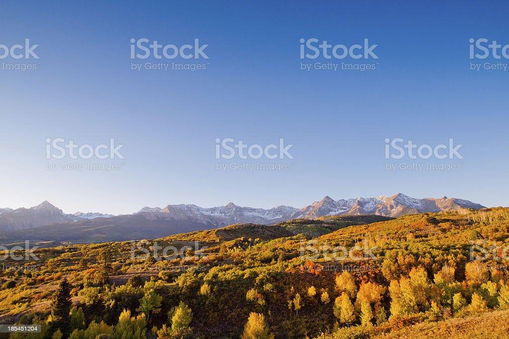 Dallas Divide in Autumn stock photo