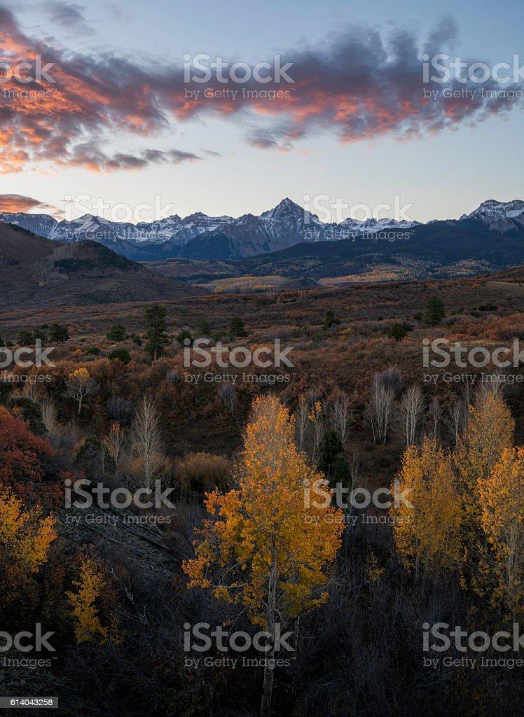 Dallas Divide Sunrise Colorado stock photo