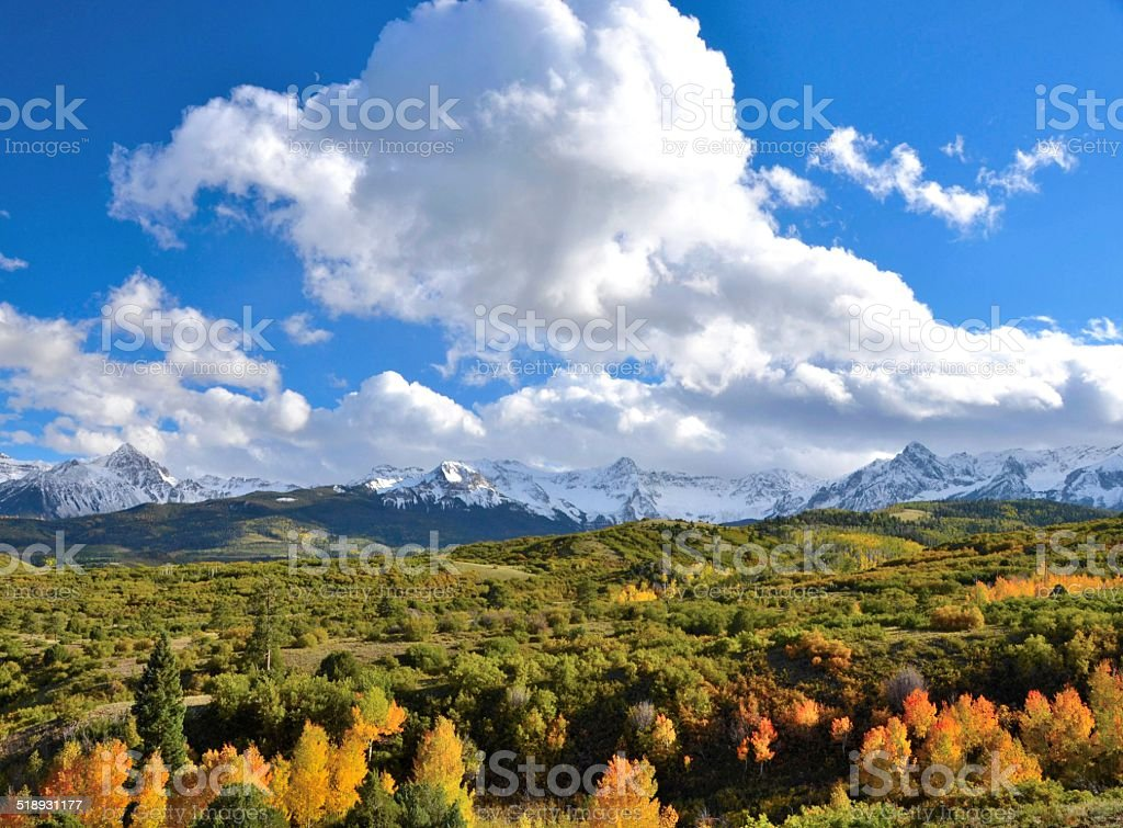 Dallas Divide with clouds stock photo