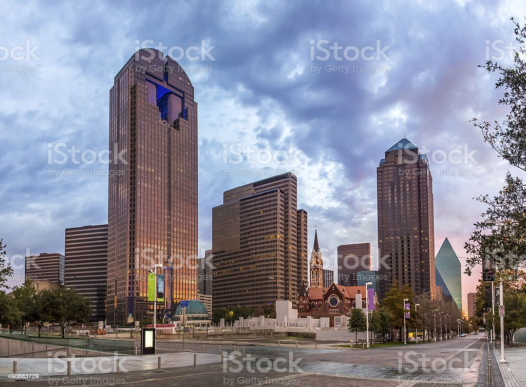 Dallas downtown - Arts district stock photo