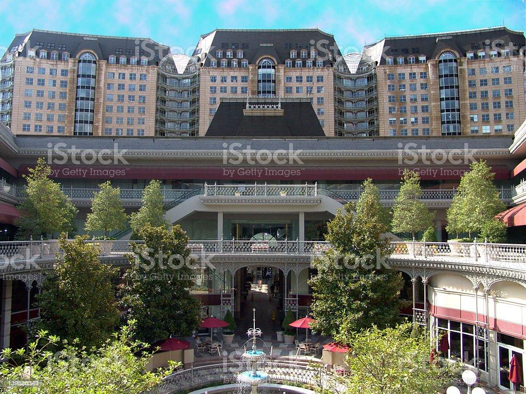 Dallas Hotel Courtyard royalty-free stock photo