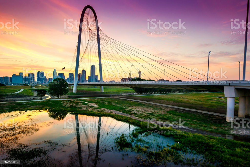 Dallas in the morning. Texas. stock photo