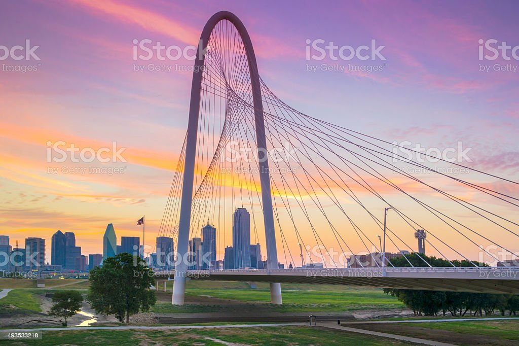 Dallas in the morning. Texas. stock photo