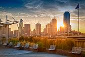Dallas in the morning. Texas.