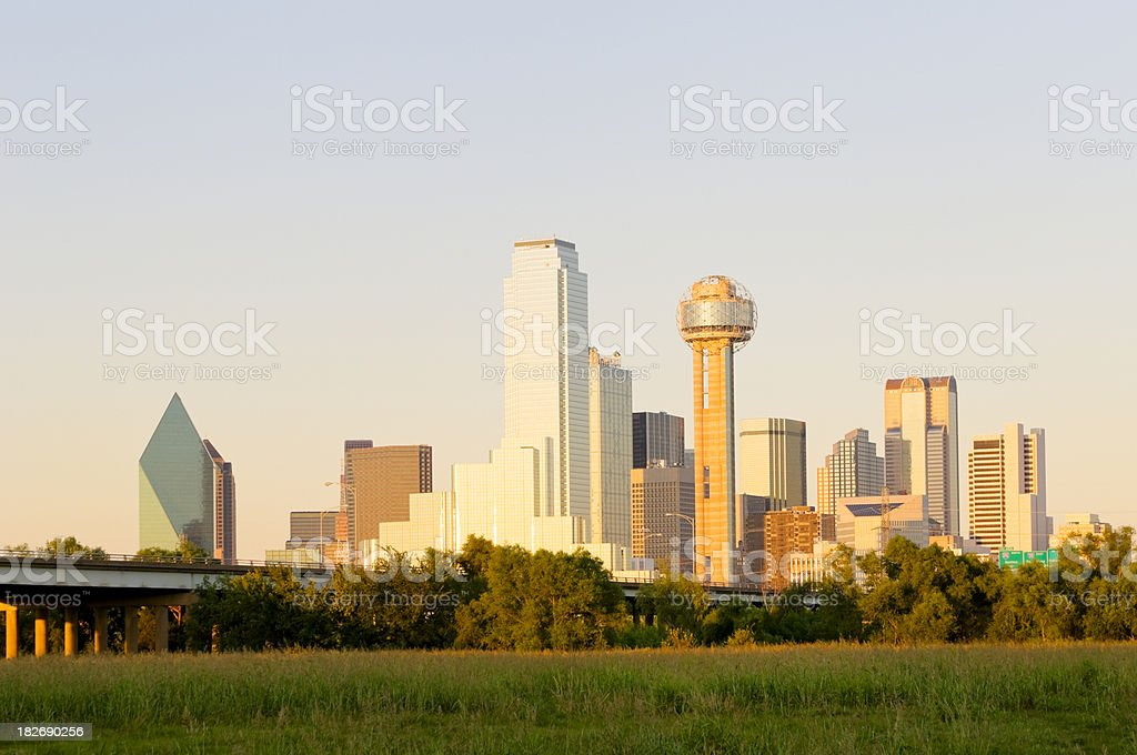 Dallas Skyline at Sunset royalty-free stock photo