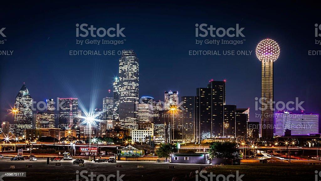 Dallas skyline by nigh stock photo