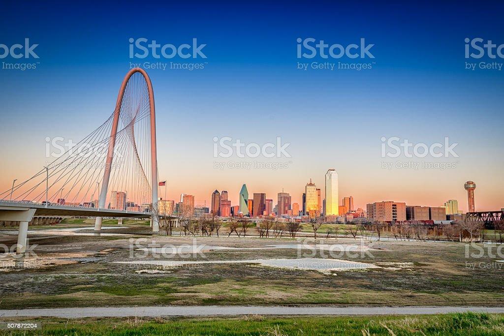 Dallas Skyline in the fall stock photo