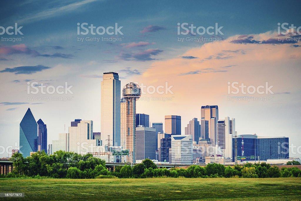 Dallas Skyline at dusk, Texas. United States.