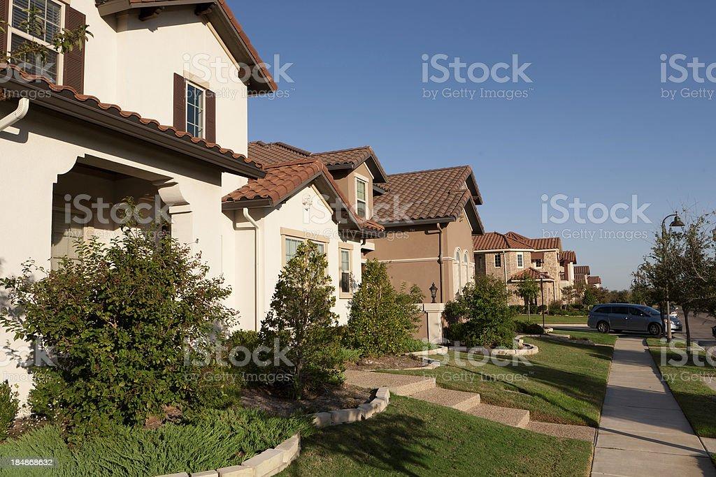 Dallas Suburban Houses stock photo