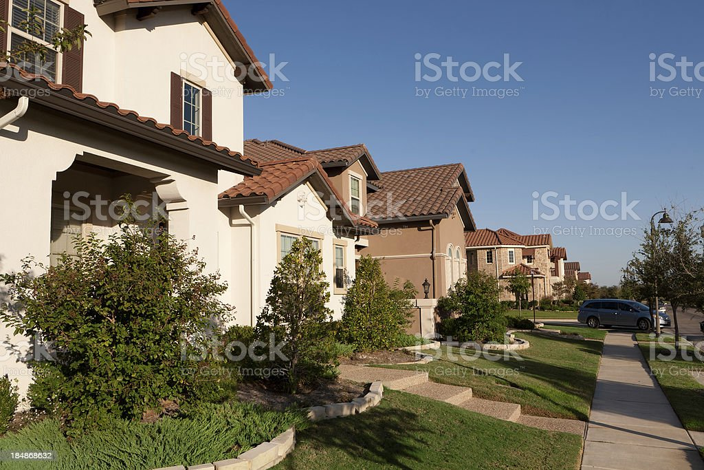Dallas Suburban Houses stock photo