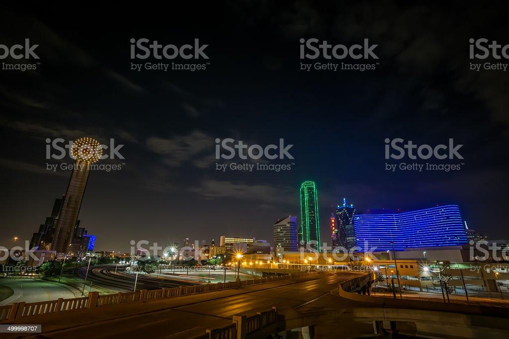 Dallas, Texas at Night stock photo