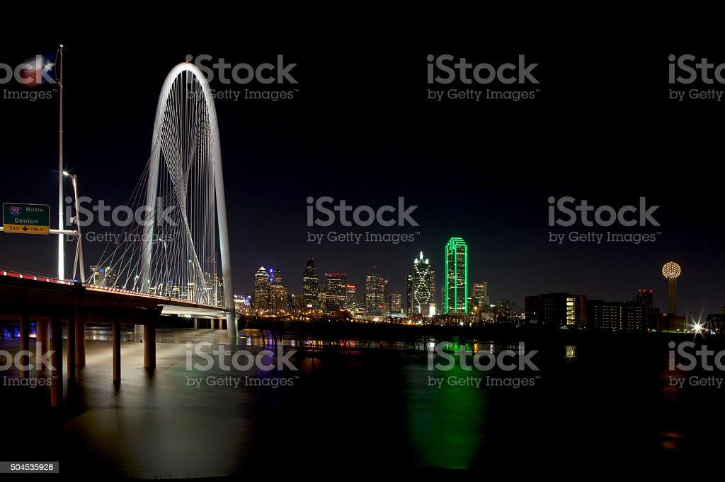 Dallas Texas at Night stock photo