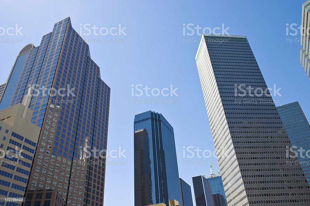 Dallas Texas city skylline cityscape skyscrapers royalty-free stock photo